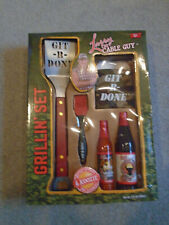 Larry The Cable Guy Git-R-Done Bbq Grilling Set Tools Cuzy Sauces Brewed in Usa