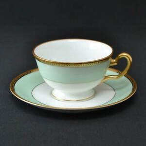 Okura Art China Light Green Tea Cup/Saucer