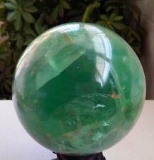 3570g NATURAL green  Fluorite crystal sphere ball healing *