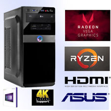 Desktop PC-Ryzen5 2400G-16GB DDR4 RAM-512GB SSD+VEGA11-Windows 10 Pro-Cardreader