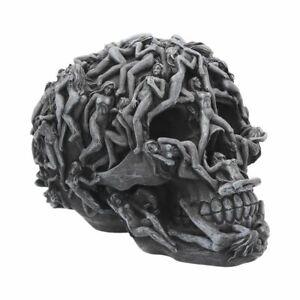 "Funky ""Hell's Desire"" Ornamental Poly-Resin Skull 18cms The original Sin"