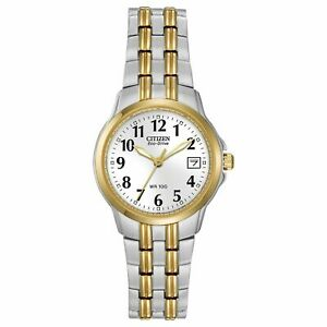 Citizen Ladies Silhouette Two-Tone Eco-Drive Watch - EW1544-53A NEW