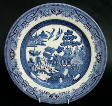 Vintage 1980's Broadhurst Blue Willow Breakfast or Sm Dinner Plates 24cm Unused