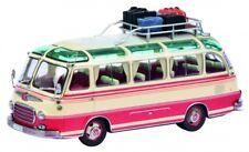 1/43 Schuco Setra S6 mit Dachgepäckträger und Reisegepäck beige-rot 450292500