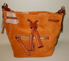 Dooney & Bourke Suede Drawstring Bag - Logan Honey