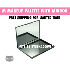 DIY Empty Magnetic Makeup Palette with Mirror Strong Plastic Fits 18 Eyeshadows