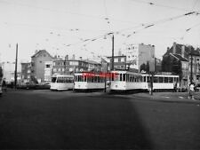 PHOTO  BELGIUM TRAMS 1959 BRUXELLES SCHAERBEEK STIB TRAM NO 9085 ON ROUTE 2 1084