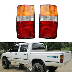 Pair Rear Lamp Tail Lights For Toyota Hilux MK3 1989-1995 LN RN YN Pickup 2-4WD