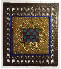 Jean Baptiste Jean Joseph Beaded Abstract Art on a Millfort Metal Frame