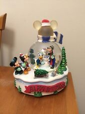 NEW DiSNEY Snowglobe Snow Globe Happy Holidays Winter Wonderland Mickey Mouse