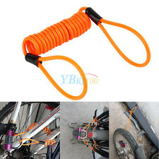 120cm Safety Lanyard Spring Coil Wire Disc Brake Lock Reminder Cable Orange
