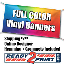 3' x 5' Full Color Custom Printed Banner, 13oz Vinyl - FREE SHIPPING
