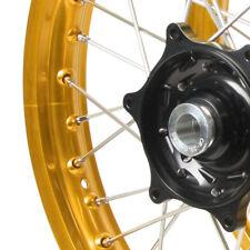 2002'-2012' HONDA MX FRONT/REAR WHEEL SET CRF 450R GOLD RIMS/BLACK HUBS
