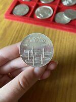 MONETA FINLANDIA 10 MARKKAA 1967 23,75 grammi ARGENTO 900