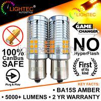 2x BA15S P21W 30SMD AMBER LED CANBUS TURN SIGNAL INDICATOR LIGHT BULBS ORANGE