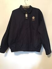 Page And Tuttle Mens PGA Gulf States  ZIp Front Jacket Navy XXL
