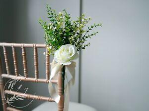 10 x Wedding pew ends   wedding aisle decorations   venue decorations   Handmade