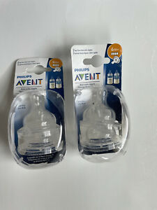 Philips AVENT BPA Free Natural Fast Flow Nipples (Pack of 2)