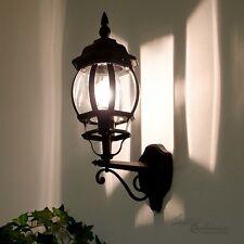Wand Laterne schwarz Außenwandleuchte rustikal Außenwandlampen Wandlampe Hof