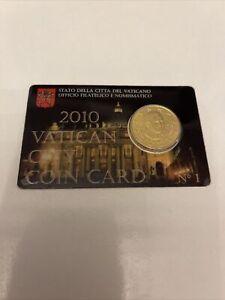 coincard 50 cents Vatican 2010 Pape Benoit XVI coin card Num 1