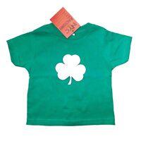 Shamrock TODDLER T-Shirt Tee Baby Boy Girls 100% Cotton Irish Kelly Green (3T)