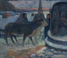 """PAUL GAUGUIN Painting Poster or Canvas Print """"Christmas Night"""""""