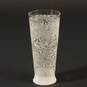 Lampenglas Studioglas Kurt Wallstab (1920-2002) Vase weiß groß