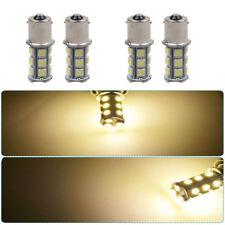 4pc 12V 1156 BA15S 18SMD 5050 7503 1141 LED White Car RV Trailer Light Lamp Bulb