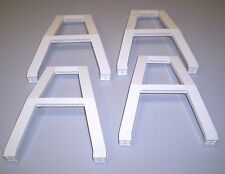 4 Used LEGO White Support Crane Stand Double 2635 Airport 7690 - 6597 - 10159