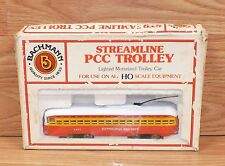 Genuine Bachmann HO Streamline PCC Trolley - 1451 Pittsburgh Railways **READ**