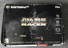 Nintendo 64 Star Wars Episode 1 Racer EMPTY BOX ONLY & Instruction Booklet