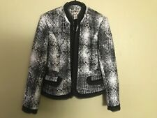 Gorgeous!!! Cache jacket, size 6, delicate silver threads throughout