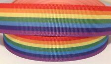 Grosgrain Ribbon 1 Meter - Rainbow Colour Ribbon 22 Mm
