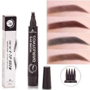 4 Head Fork Tip Microblading Tattoo Eyebrow Ink Pen Sketch Eyebrow Pencil