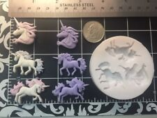 Unicorn Mini silicone mold Kids-Girls-fondant-Jewelry-Gumpaste-Candy-Clay-Resin