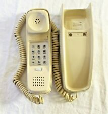 Vintage Bell Push Button Trimline Wall Phone Quality Sturdy Beige