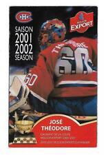 NHL HOCKEY, 2001-02 MONTREAL CANADIENS SCHEDULE !!