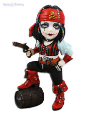 "Gorgeous ""Pearl Black"" Pirate with Blue Parrot Cosplay Kids Statue"