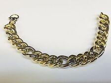 "14kt YELLOW gold FASHION Curb link BRACELET 7.75""  12 MM  13 grams"