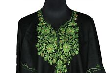Donate Humane Society - Poncho with Kashmiri Floral Crewel Hand Embroidery