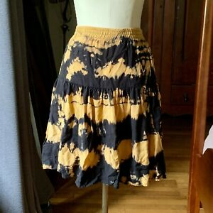 CONTEMPO CASUALS Vintage 90's RAYON Tie Dyed Skirt MEDIUM