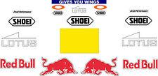 Marc Marquez Helmet Decal Stickers - Complete Sponsor Race Sticker kit