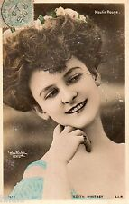 BE658 Carte Photo vintage card RPPC Femme woman Edith Whitney moulin Rouge