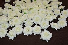 100 x Wedding Fake Roses Artificial Silk Plastic Flower Heads Party Decoration