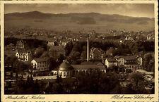 Kudowa-Zdrój Schlesien  alte Postkarte Polen um 1935 Totalansicht Vogelschau