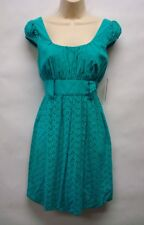 NWT Laundry by Design Green Eyelet Dress Size 2 Retails$148  Very Cute