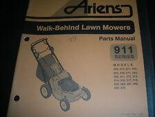 ariens 911 series walk behind lawn mower model#s,illustrated parts list manual