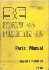BOMFORD HEDGETRIMMER BRIGAND 727 & POWERTRIM 587 PARTS MANUAL