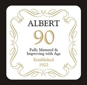 PERSONALISED 90 / 90th BIRTHDAY COASTER - BORN IN 1923 - ANY NAME - GIFT PRESENT