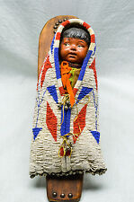 1920's Beaded Toy Papoose Cradleboard - Plains Indian - Assiniboine (Very Rare